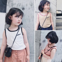 Vest sling Khaki, white, pink Sleeveless five ( ninety ), seven ( one hundred ), nine ( one hundred and ten ), eleven ( one hundred and twenty ), thirteen ( one hundred and thirty ), fifteen ( one hundred and forty ) summer Send sauce neutral There are models in the real shooting Other 100% Class B