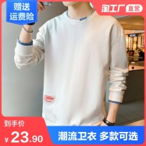 Sweater Youth fashion Late Sheng M L XL 2XL 3XL 4XL Solid color Socket routine Crew neck autumn easy leisure time youth Youthful vigor routine MMS-FKS polyester fiber Polyester 95.2% polyurethane elastic fiber (spandex) 4.8% polyester fiber Color matching No iron treatment Winter 2020 More than 95%