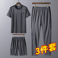 Leisure sports suit spring M L XL 2XL 3XL 4XL Short sleeve 2RZ shorts youth T-shirt RZ-TCJD03 Spring 2021 100% polyester