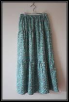 skirt Summer of 2019 The average size is 55cm long, 75cm long and 85CM long Green cherry longuette Versatile Natural waist Ruffle Skirt Decor Type A 31% (inclusive) - 50% (inclusive) hemp