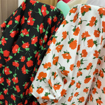 Fabric / fabric / handmade DIY fabric cotton Loose shear piece Plants and flowers printing and dyeing clothing Japan and South Korea SEVEN COLOR 100% Chinese Mainland