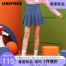 skirt Spring 2021 S M L Short skirt street High waist Solid color 18-24 years old 71% (inclusive) - 80% (inclusive) UNIFREE cotton hippie