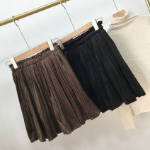 Casual pants Black, brown Average size Winter 2020 shorts Wide leg pants High waist Versatile thickening 18-24 years old 30% and below SH309780 other cotton