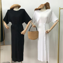 Dress Summer 2021 longuette singleton  Short sleeve commute Crew neck High waist other other routine Others 18-24 years old Korean version SS112158 30% and below other other Average size
