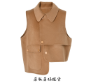 Vest Autumn 2020 khaki S,M,L routine street Solid color nine thousand two hundred and thirty cotton