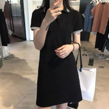 Dress Summer 2021 Picture color S M L XL Mid length dress singleton  Short sleeve commute Polo collar High waist Solid color Socket A-line skirt routine Others 18-24 years old Type A Huan Ting Simplicity HT12983 More than 95% other other Other 100% Pure e-commerce (online only)