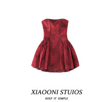 Dress Spring 2021 Black, white, red S,M,L Short skirt singleton  Sleeveless commute High waist A-line skirt Breast wrapping 18-24 years old Type A 30% and below polyester fiber