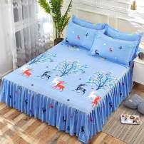Bed skirt 120cmx200cm, 150cmx200cm, 180cmx200cm, 200cmx220cm and 180cmx220cm cotton Other / other Plants and flowers First Grade