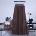 skirt Autumn 2020 longuette Versatile High waist Pleated skirt Solid color Type A other other The skirt length is 72cm, 80cm and 88cm