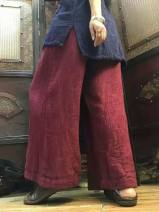Casual pants Red, gray Average size Winter 2020 trousers Wide leg pants Natural waist Versatile routine