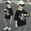 T-shirt summer leisure time There are models in the real shot nothing Other 100% D21389 Sweat absorption Star fun 3, 4, 5, 6, 7, 8, 9, 10, 11, 12, 13, 14, 14 and above other male Cartoon animation Zhejiang Province Huzhou City Short sleeve Crew neck Chinese Mainland easy White, black