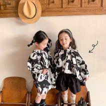 suit Other / other Shirt, dress, pants 90cm,100cm,110cm,120cm,130cm,140cm female spring and autumn Cartoon other 3 pieces routine There are models in the real shooting Single breasted nothing Cartoon animation elder Expression of love zl123013 Class B Chinese Mainland Zhejiang Province
