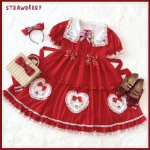 Lolita / soft girl / dress Mirita Red, full 210 packages KC (hairpin), side clip, 2XL (end of May), XL (end of May), l (end of May), s (end of May), m (end of May) Summer, spring and Autumn goods in stock Lolita