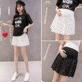 skirt YL237 UltraShort  Versatile M L XL XXL summer Yu Lian Black and white Dot Chiffon