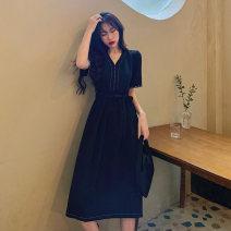 Dress Summer 2020 Picture color L [100-120 Jin], XL [120-135 Jin], 2XL [135-150 Jin], 3XL [150-165 Jin], 4XL [165-180 Jin] Mid length dress singleton  Short sleeve commute Korean version