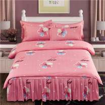 Bedding Set / four piece set / multi piece set cotton Quilting Plants and flowers 128x68 Other / other cotton 4 pieces 40 1.5 bed (quilt cover 180x220), 1.8 bed (quilt cover 200x230), 2.0 bed (quilt cover 200x230), 1.2 bed (quilt cover 150x200) Bed skirt First Grade European style 100% cotton