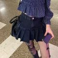 skirt Summer 2021 S. M, l, average size Plaid top, denim pleated skirt Short skirt commute High waist A-line skirt Solid color Type A 18-24 years old K 81% (inclusive) - 90% (inclusive) other other Korean version