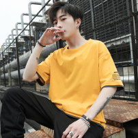 T-shirt Youth fashion White black dark gray haze blue lake blue green yellow red two piece special clothes UNIQLO official flagship store Hailan home official flagship store thin M L XL 2XL 3XL Gebotoo / geboto Short sleeve Crew neck easy Other leisure summer GBT-2017T Cotton 100% youth routine