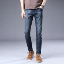 Jeans Fashion City Gebotoo / geboto 27 28 29 30 31 32 33 34 36 Black blue routine Micro bomb Regular denim GBT6I1D8K2L5 trousers Cotton 74.9% polyester 23.7% polyurethane elastic fiber (spandex) 0.9% viscose fiber (viscose) 0.5% Four seasons youth middle-waisted Slim feet like a breath of fresh air
