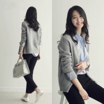 Wool knitwear Winter of 2018 S M L XL XXL Long sleeves singleton  Cardigan other More than 95% Regular routine commute Straight cylinder V-neck routine Solid color Single breasted Korean version SR662 25-29 years old Little girl Other 100% Pure e-commerce (online only)