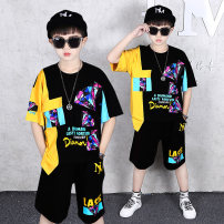 suit Tong Aiqi 110cm 120cm 130cm 140cm 150cm 160cm 170cm male summer motion Short sleeve + pants 2 pieces Thin money There are models in the real shooting Socket nothing cotton friend Expression of love Class B Cotton 95% other 5% Chinese Mainland Guangdong Province Guangzhou City