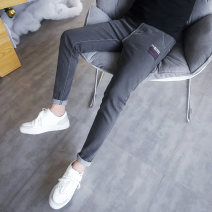 Jeans Youth fashion Others 28,29,30,31,32,33,34 104 black, 104 gray, 103 black, 103 gray, a850 black, a849 black, a849 gray, a841 black, a841 blue, a840 black, a837 black, 107 blue, 108 blue, 109 blue routine Micro bomb Regular denim Ninth pants Other leisure autumn teenagers Medium low back tide