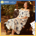 Nightdress Cse  SGM-1300 1 2 3 4 5 6 7 8 9 10 160(M) 165(L) 170(XL) 175(XXL) Sweet Short sleeve pajamas Middle-skirt summer Cartoon animation youth One word collar Iced silk printing More than 95% silk SGM-1300 Summer 2021 New polyester fiber 100% Pure e-commerce (online only)