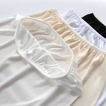 skirt Summer of 2019 White, apricot, milk white Short skirt Versatile Natural waist other Solid color 18-24 years old knitting