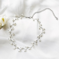 Necklace Alloy / silver / gold RMB 25-29.99 Other Gold necklace (black), gold necklace (white) * |, Silver Necklace (white) brand new Japan and South Korea female goods in stock no Fresh out of the oven 21cm (inclusive) - 50cm (inclusive) no Above 11cm Alloy inlaid artificial gem / semi gem other