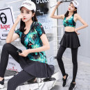 Yoga clothes M,L,XL,XXL,3XL female Other / other other female sex Including breast pad other Socket Short sleeve trousers