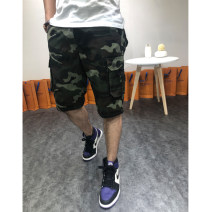 Casual pants SPARTACKSS Youth fashion Army green, gray blue, white gray 29,30,32,34,36,38,40,42 routine Pant sandy beach Straight cylinder Micro bomb summer youth Business Casual 2019 Medium high waist Straight cylinder Other 100% Overalls Pocket decoration camouflage other