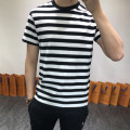 T-shirt Youth fashion Black and white stripes, red and blue stripes routine S,M,L SPARTACKSS Short sleeve Crew neck easy Other leisure Four seasons routine stripe