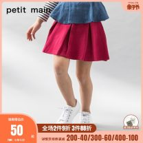skirt 80cm 90cm 100cm 110cm 120cm 130cm 84 light grey 50 Navy 10 red PETIT MAIN female Cotton 63.3% polyester 33.7% polyurethane elastic fiber (spandex) 3% spring and autumn skirt solar system Solid color Pleats Cotton blended fabric 9674102-1 Class A Spring of 2019