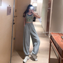 Casual pants S M L XL XXL Spring 2021 trousers Haren pants High waist Versatile routine 18-24 years old 30% and below Sui Xue's Poems cotton pocket cotton PVC 65% cotton 35% Pure e-commerce (online only) Asymmetry