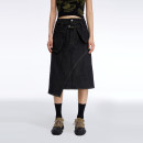 skirt Summer 2021 S, M Black, black pre-sale street High waist Irregular Solid color Type A 18-24 years old 11QZ552 Denim HOLONOMIC