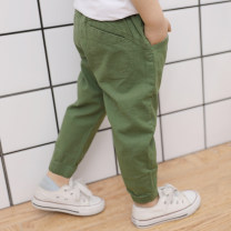 trousers Shuo Shuo's family male 90cm,100cm,110cm,120cm,130cm,140cm,150cm summer trousers leisure time There are models in the real shooting Casual pants Leather belt middle-waisted cotton Don't open the crotch Cotton 98% polyurethane elastic fiber (spandex) 2% Class B