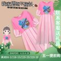 Women's large Summer 2021 Pink Dress singleton  commute Self cultivation thin Socket Short sleeve Cartoon animation Korean version Crew neck Medium length Three dimensional cutting other J-38603# Murexi 25-29 years old Medium length Other 100% Pure e-commerce (online only) other