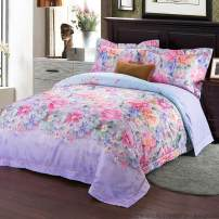 Bedding Set / four piece set / multi piece set Flower Dance - Purple Alia - Red Flower Blossom - Blue Flower Kaique Dance - Golden Lorias - Red Song - Jade Alicia - Green Streamer Xiwu - Rice Forty 0917 4 pieces Plant flowers cotton 133x72 Standard bed linen 1.5-1.8 meters bed applies other cotton