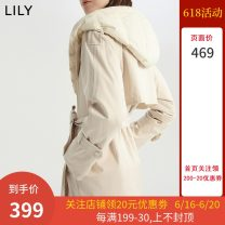Down Jackets Winter 2020 Lily / Lily White duck down 90% routine Long sleeve Hooded commute routine Solid color Straight tube 120410D1150 Below 100g Ol style Frenulum 25-29 years old 51% (inclusive) - 70% (inclusive) polyester fiber 606 light meters XS,S,M,L,XL