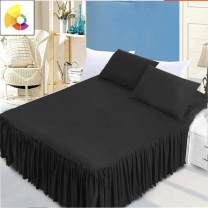 Bed skirt 120cmx200cm,150cmx200cm,180cmx200cm,200cmx200cm,200cmx220cm polyester cotton Black bed skirt piece, red bed skirt piece Other / other Solid color Qualified products