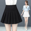 skirt Summer 2021 S/26 M/27 L/28 XL/29 XXL/30 3XL/31 Black - spring and autumn white - spring and autumn grey check - Summer Black - Summer thin white - Summer thin Short skirt commute High waist Pleated skirt Solid color Type A 18-24 years old WL19026A190606 91% (inclusive) - 95% (inclusive) other