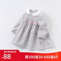 Dress female DAVE&BELLA Other 100% cotton Pleats Class A Autumn 2020 12 months, 18 months, 2 years old, 3 years old, 4 years old, 5 years old, 6 years old and 7 years old