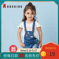 trousers middle-waisted Button other Summer 2017 Abckids female 12 months 18 months 2 years 3 years 4 years 5 years old rompers shorts There are models in the real shot F7212014D summer Don't open the crotch Cotton 100% cotton Dark blue light blue 80cm 90cm 100cm 110cm 120cm