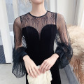Dress / evening wear Weddings, adulthood parties, company annual meetings, daily appointments S M L XL black grace longuette middle-waisted Winter of 2019 Self cultivation U-neck zipper 18-25 years old Long sleeves Solid color Lanju bishop sleeve Polyester 100% Pure e-commerce (online only) other