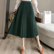 skirt Winter 2020 Average size Green black dark grey brown Mid length dress Natural waist Solid color Type A MW2008291647 More than 95% Wool Tingzi Tian other wave Other 100% Pure e-commerce (online only)