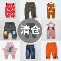 trousers Cute little girl neutral 66cm 73cm 80cm 90cm 100cm 110cm spring and autumn trousers leisure time No model rompers Tether High waist polyester cotton Open crotch Other 100% MB83004 Class A Fall 2017 12 months 18 months 2 years 3 years 3 months 6 months 9 months