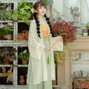 Hanfu 91% (inclusive) - 95% (inclusive) Summer 2020 Wenyuqing [three piece set] in stock, off white [three piece set] in stock S,M,L,XL polyester fiber
