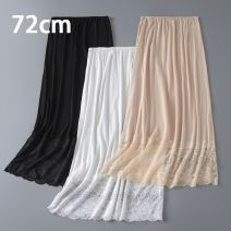 skirt Summer 2020 Average size White, black, skin tone basic 72cm, white lace 72cm, skin tone lace 72cm, black lace 72cm Mid length dress Versatile Natural waist A-line skirt Solid color Type A 25-29 years old 72cm Medium Length Petticoat 91% (inclusive) - 95% (inclusive) Lace modal  Stitching, lace