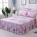 Bed skirt 120x200 [single bed skirt], 150x200 [single bed skirt], 180x200 [single bed skirt], 180x220 [single bed skirt], 200x220 [single bed skirt], one pair of pillowcases cotton Jiuzhou Island Plants and flowers Qualified products CT-CQ02