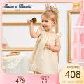 Dress golden female Tartine et chocolat 02A 03A 04A 05A 06A Cotton 79% polyester 13.4% others 7.6% summer princess other A-line skirt CIOWB6441K Class A 12 months, 18 months, 2 years old, 3 years old, 4 years old, 5 years old, 6 years old